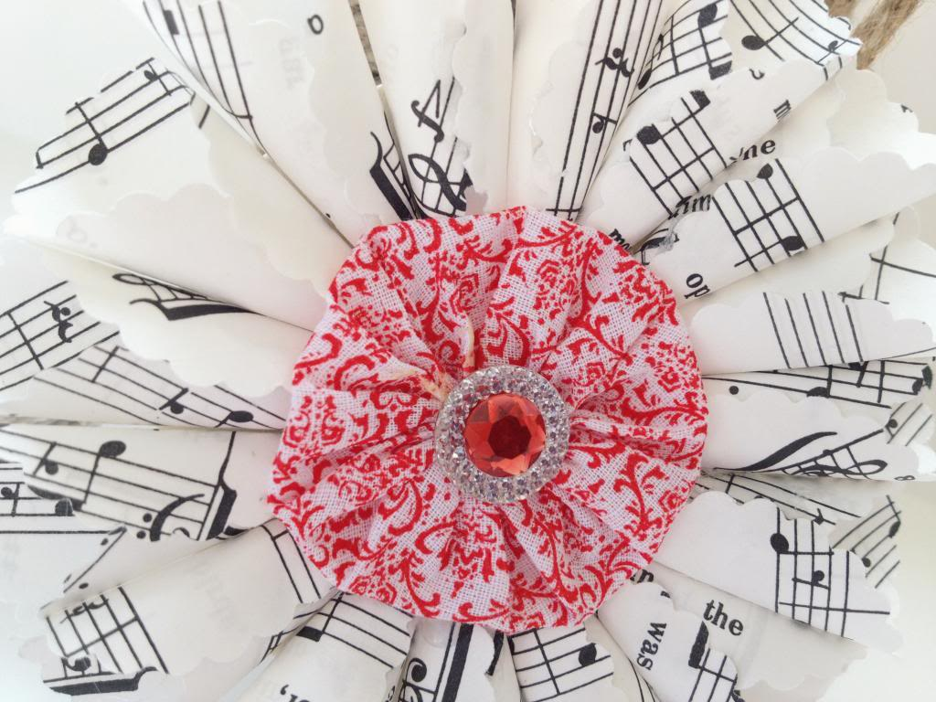 DIY VIntage Sheet Music Ornaments