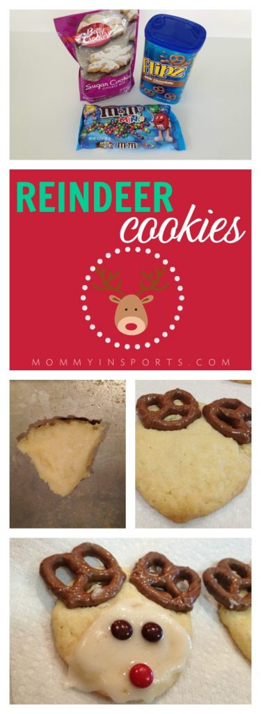 Need a simple yet super festive recipe for a holiday cookie? Look no further! These reindeer cookies are super cute and the kids love them!