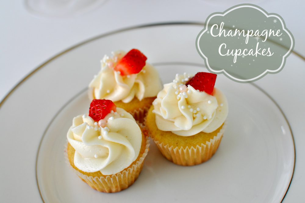 Decadent Champagne Cupcakes