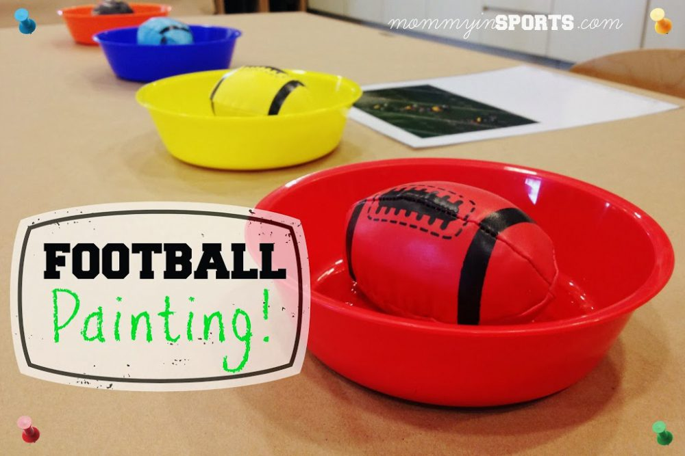 Teaching Tuesday:  Football Painting for Kids!