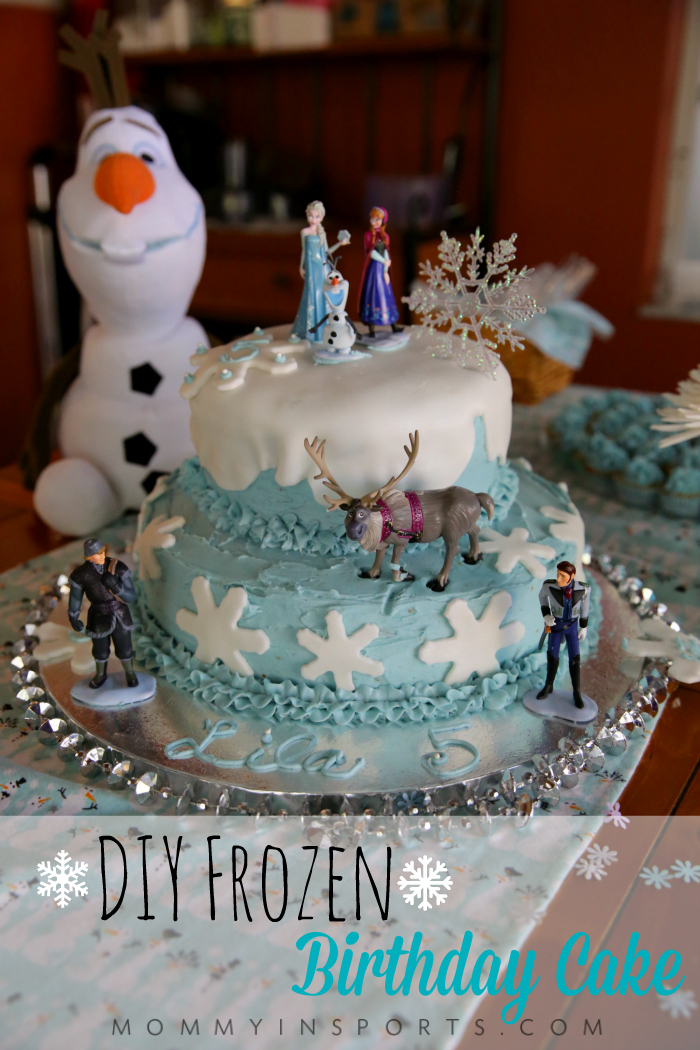 Swell Diy Frozen Birthday Cake Personalised Birthday Cards Epsylily Jamesorg