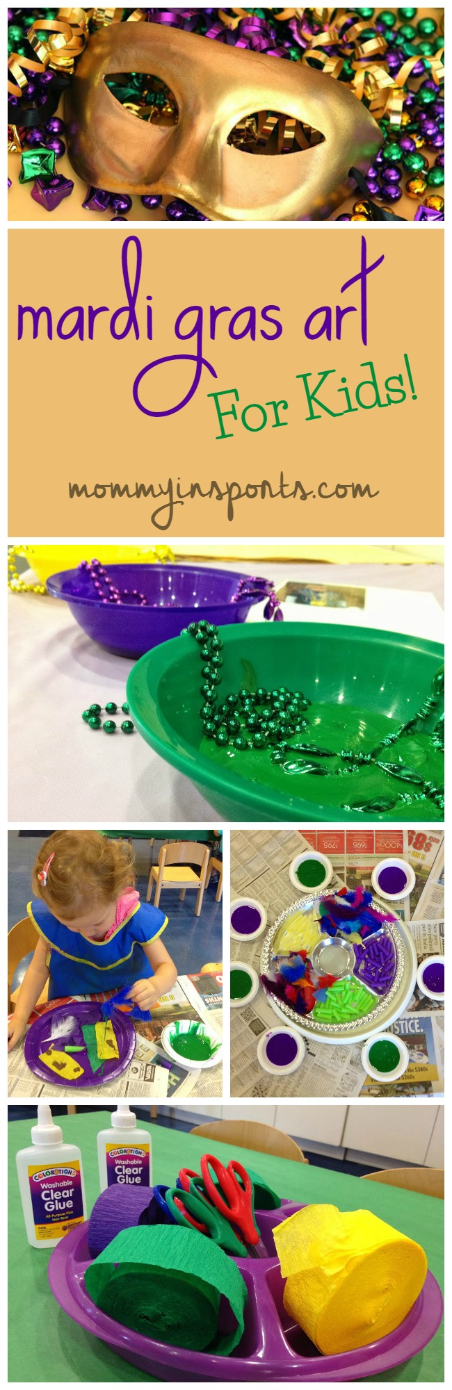 Mardi Gras Art for Kids