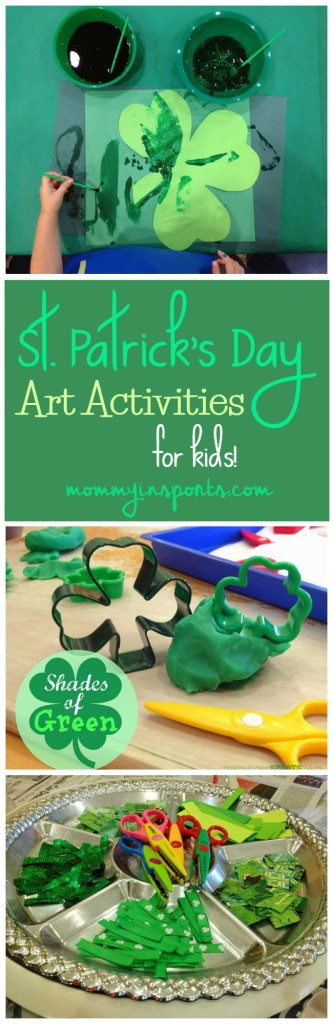 Looking for some fun St. Patrick's Day art activities for your kids? Start here! Tons of ideas in shades of green!