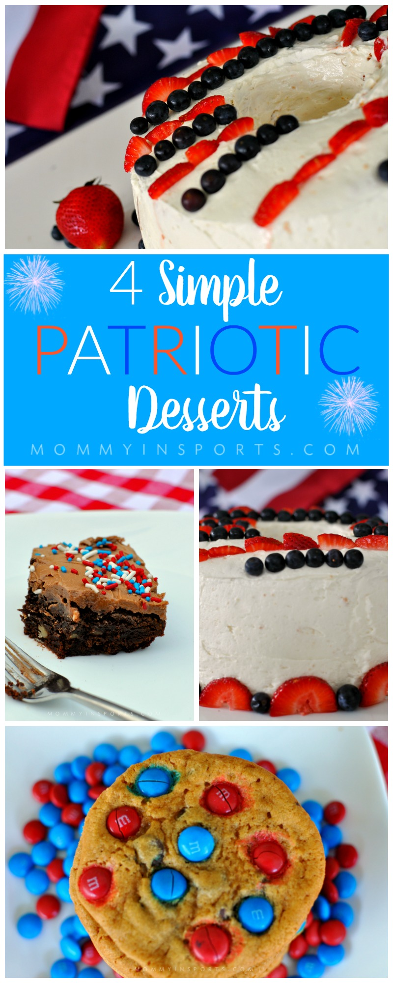 Looking to honor the USA with some sweet treats? Try these simple yet delicious desserts that will wow your crowds and won't take hours to bake!