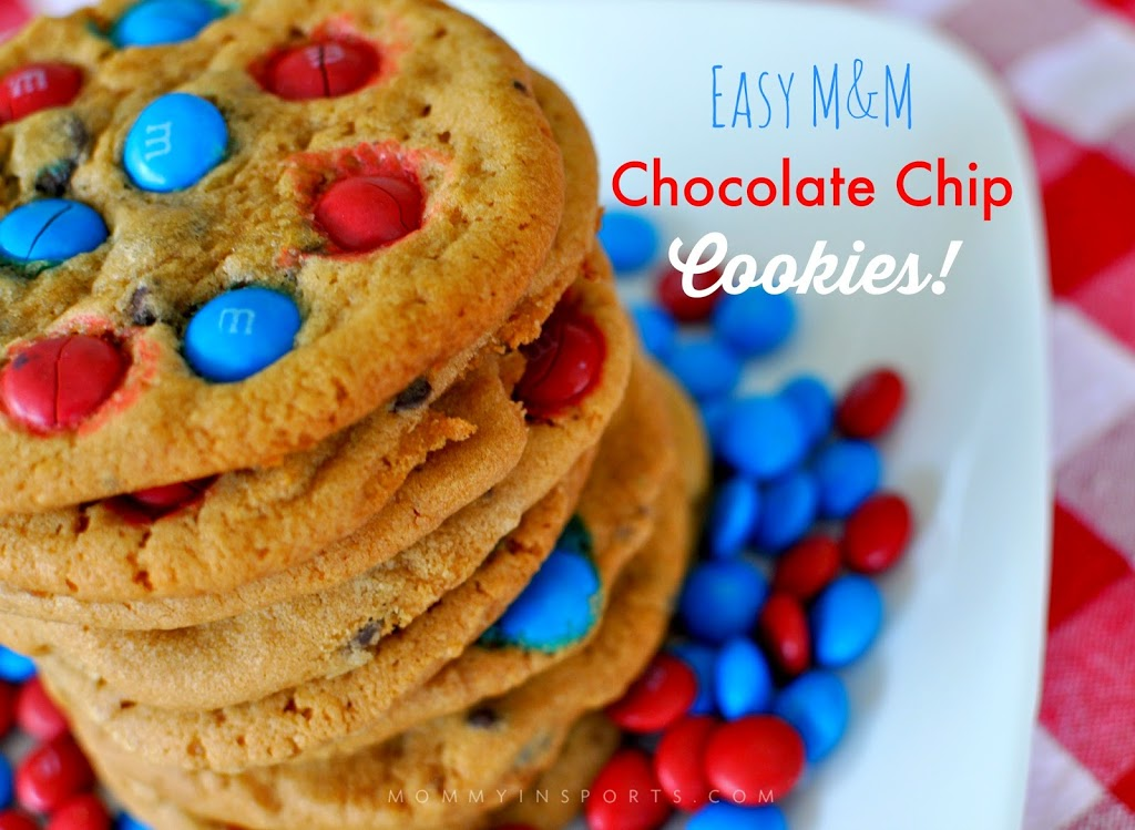 Looking to honor the USA with some sweet treats? Try these simple yet delicious desserts that will wow your crowds and won't take hours to bake! Easy M&M cookies are always the kids FAV!