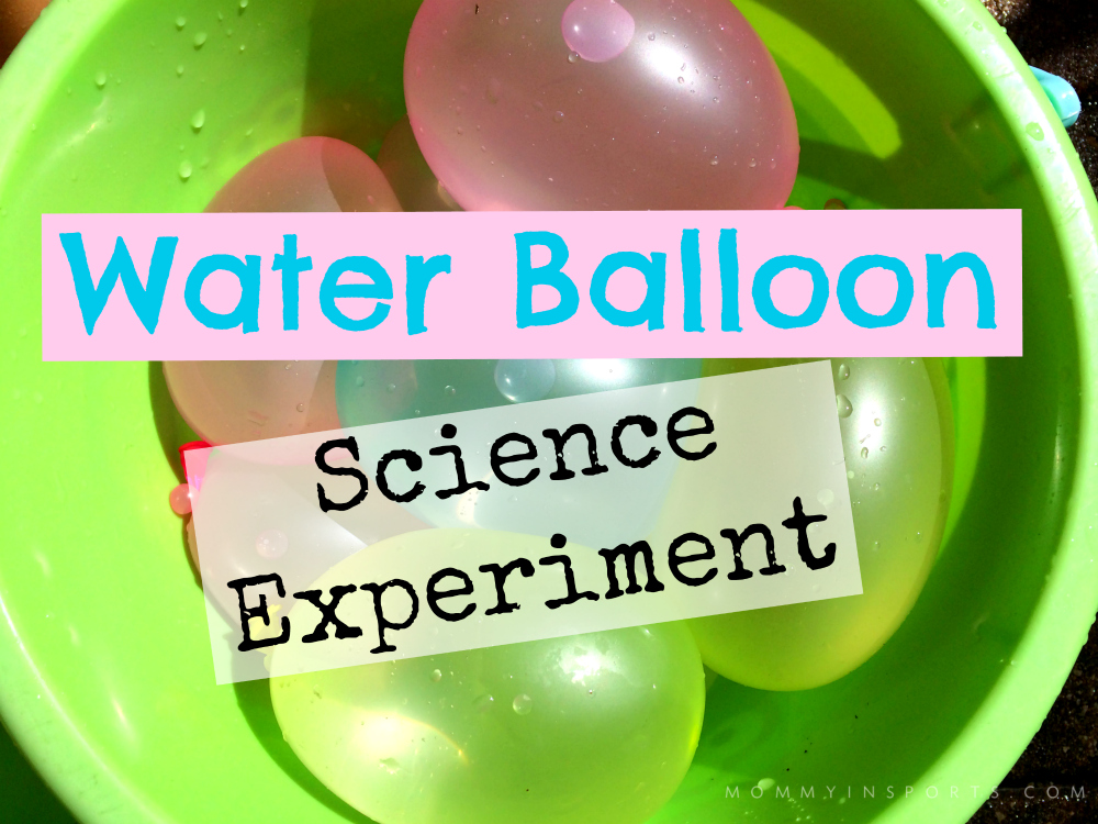 water balloon science experiment  video