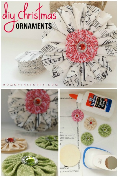 DIY Christmas Ornaments Vintage Sheet Music