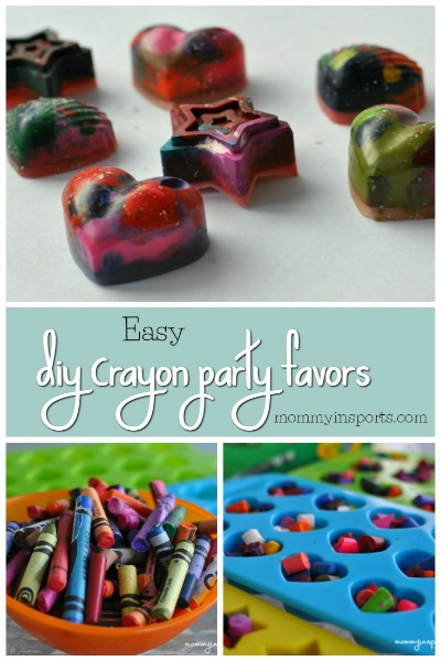 Easy DIY Crayon party favors