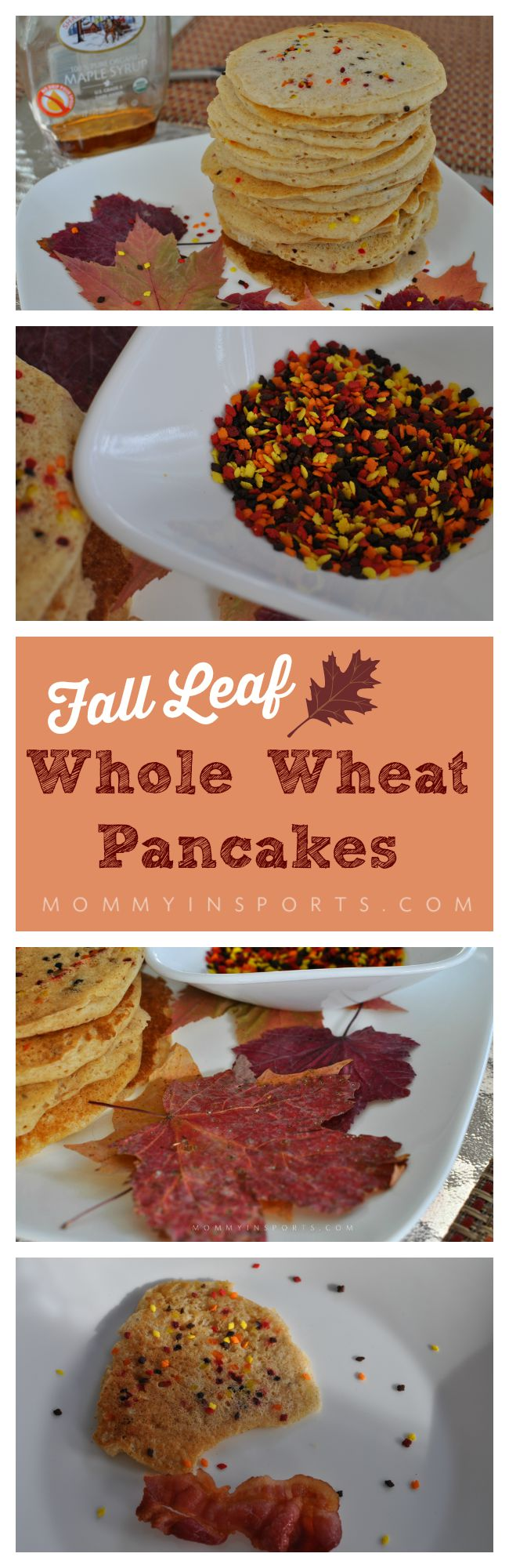 Looking fora fun kid-friendly way to usher in fall? Try these fall leaf whole wheat pancakes! Kids love them and it's still a healthy recipe!