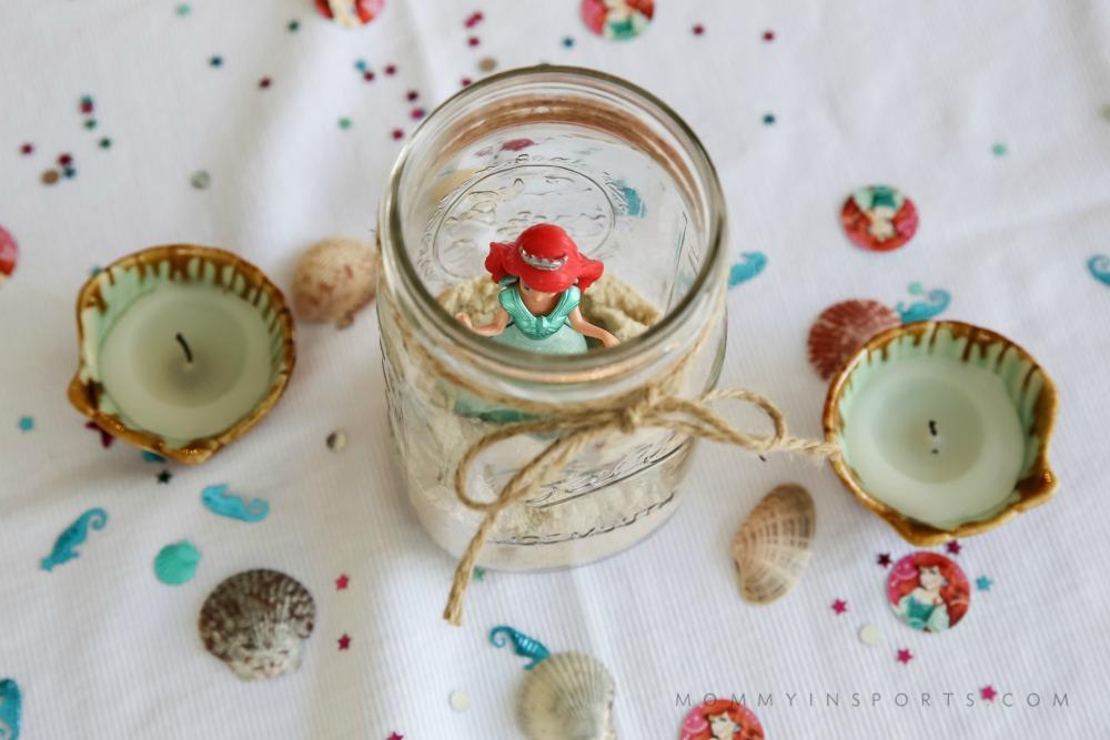 Ariel Mason Jar Decorations