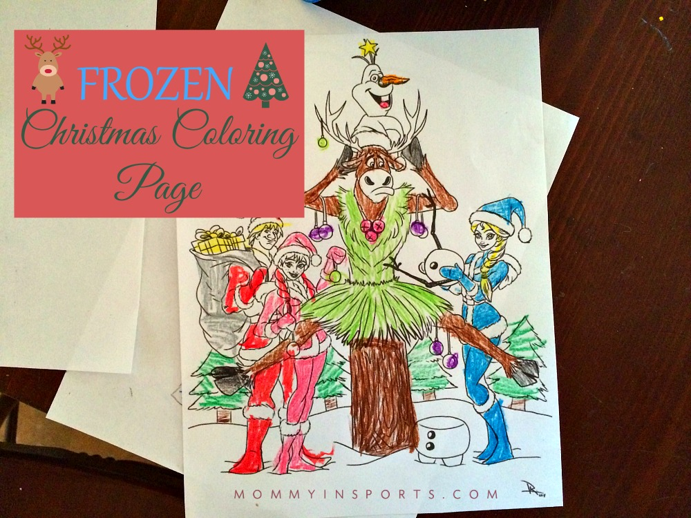 Frozen Coloring Pages Olaf And Sven : Frozen christmas coloring page kristen hewitt
