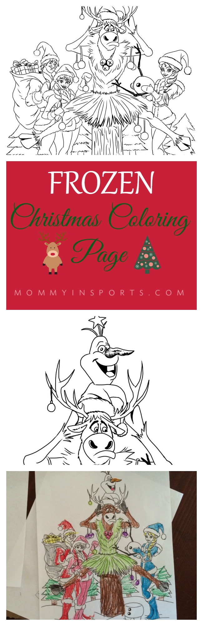 Free Frozen Christmas Coloring Page Original Art Your Kids Will LOVE