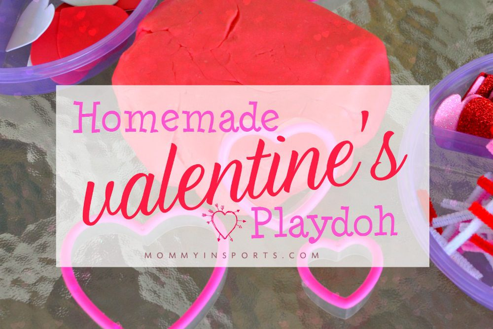 Homemade Valentine's Playdough