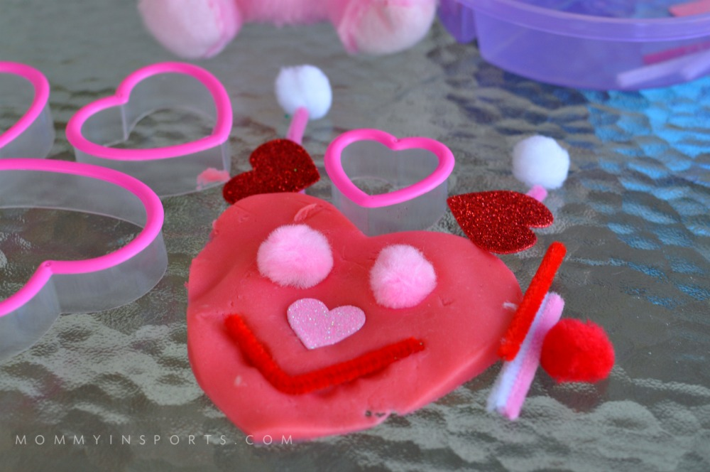 Homemade Valentines Playdoh bug