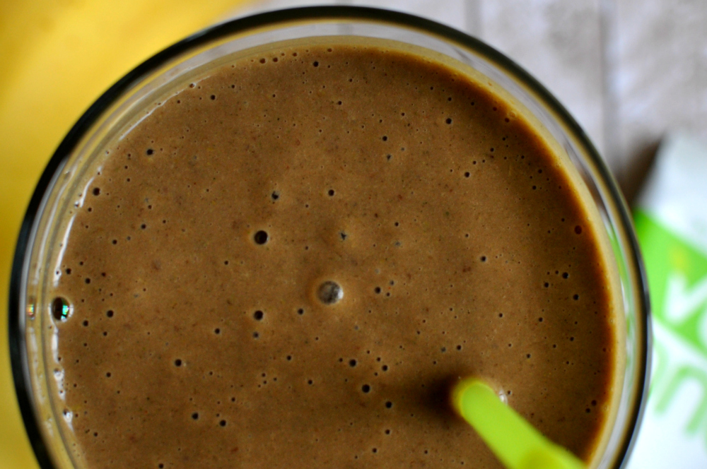 Chocolate Peanut Butter Smoothie Close Up