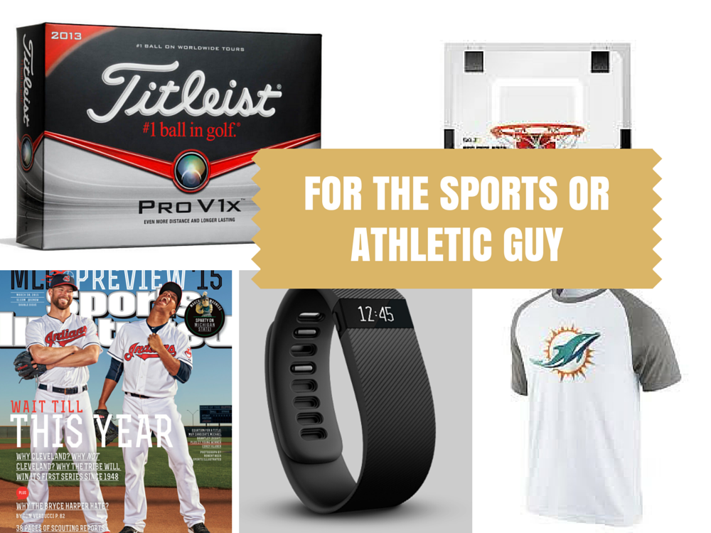 30 Gift Ideas for the Sports or Athletic Guy - Looking for a unique gift for the men in your life? START here! Get hims something he REALLY wants!