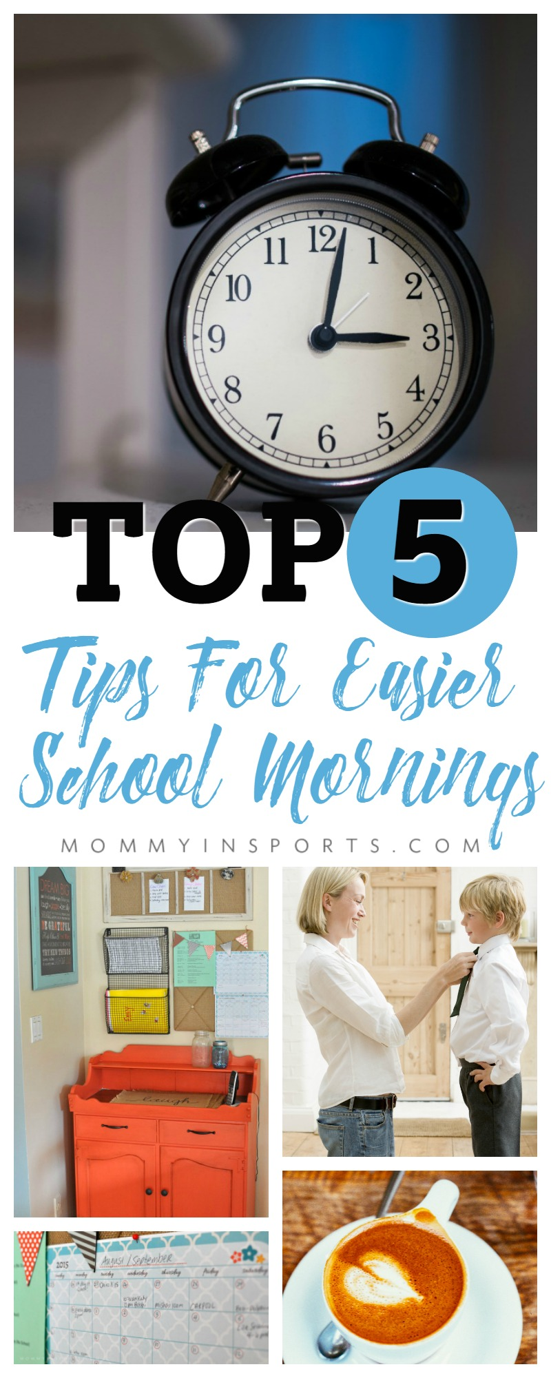 Having a rough time getting back to school routines? Try these top 5 tips for easier school mornings and make everyone's life so much happier!