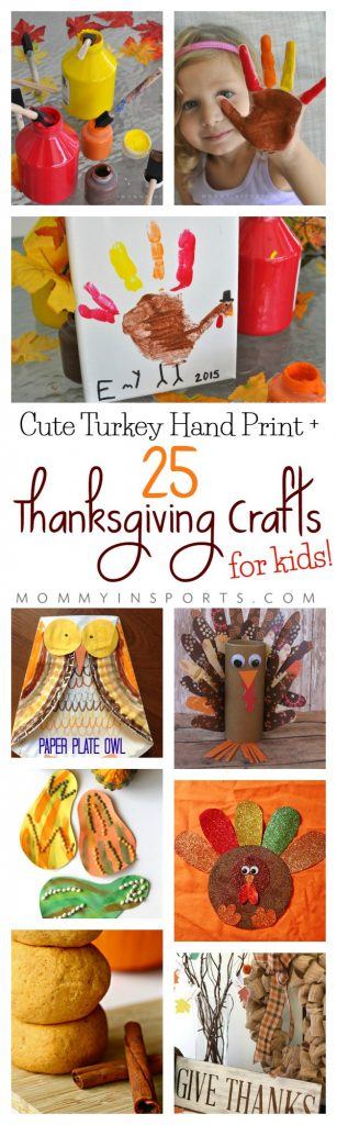 Looking for a cute way to celebrate Thanksgiving? Check out this great list of 25 Thanksgiving Crafts for Kids! Plus an adorable bonus Turkey Hand Print Craft from Kristen Hewitt!