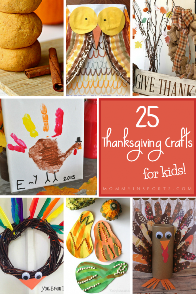 Looking for a way to bring in fall and Thanksgiving? Here are 25 Thanksgiving crafts for kids to inspire your little ones! Plus a bonus craft by mommy in SPORTS!