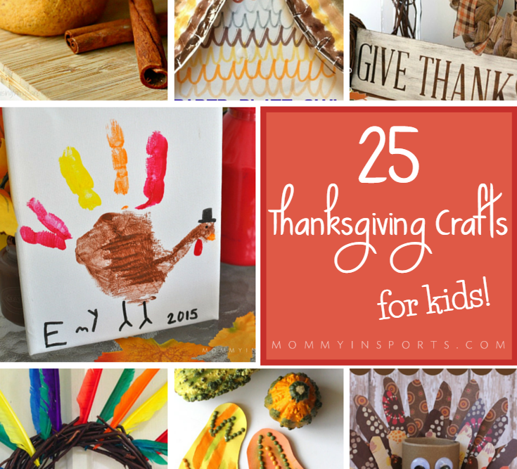 Cute Turkey Hand Print + 25 Thanksgiving Crafts for Kids