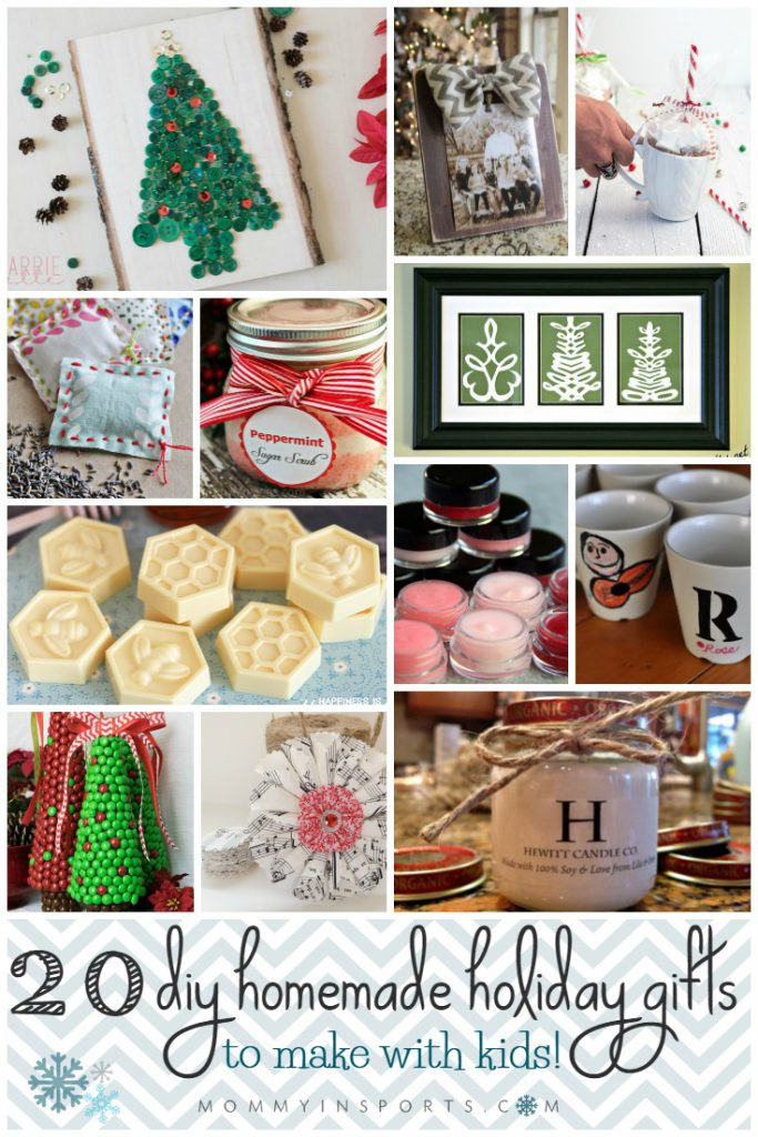 Want to make a homemade gift but not sure where to start? Here are 20 DIY Homemade Holiday Gift ideas you can easily make with your kids!