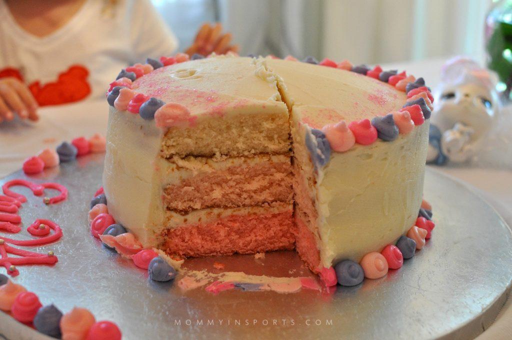 Palace Pets Cake inside