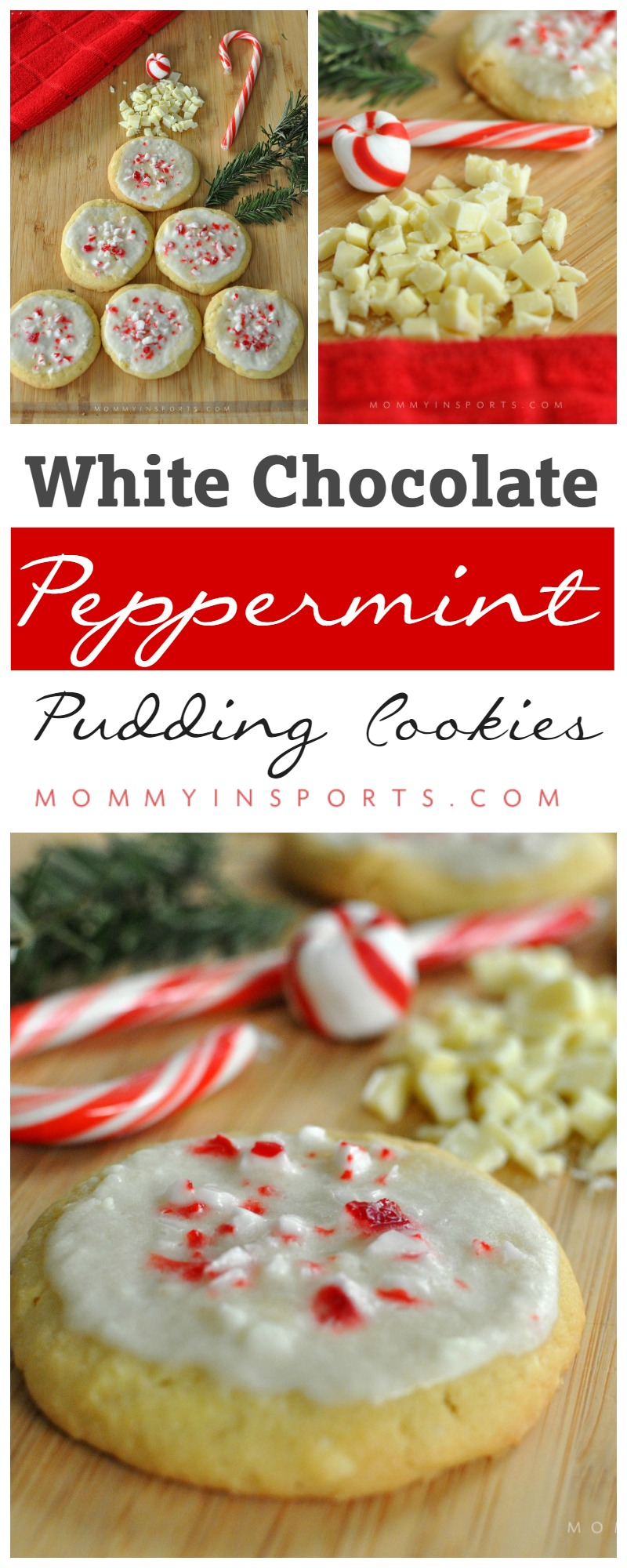 Looking for a twist on traditional Christmas cookies? Try these delicious White Chocolate Peppermint Pudding Cookies!