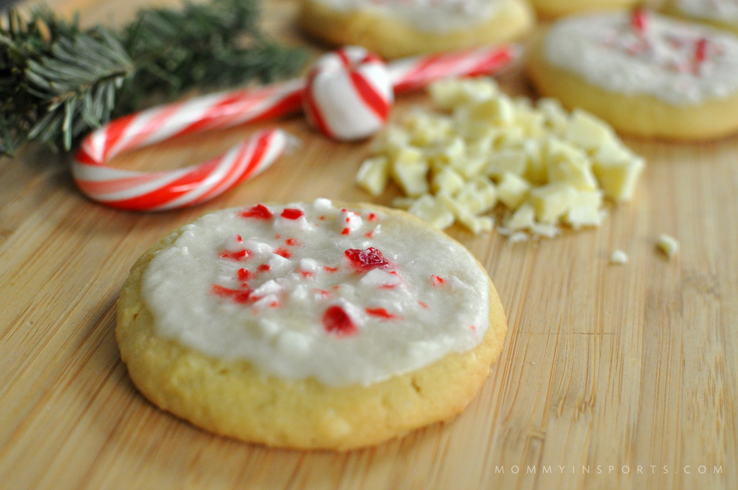 White Chocolate Peppermint Pudding Cookies - Kristen Hewitt