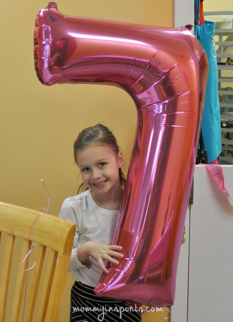 Lila 7 balloon
