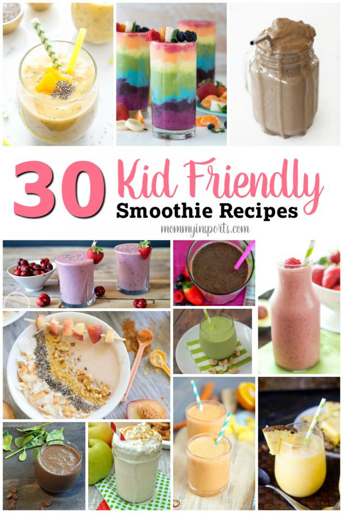 Looking for a way to add vegetables to your kids diet? Try one of these 30 kid friendly smoothie recipes!