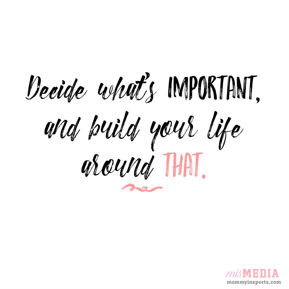 Decide what's important