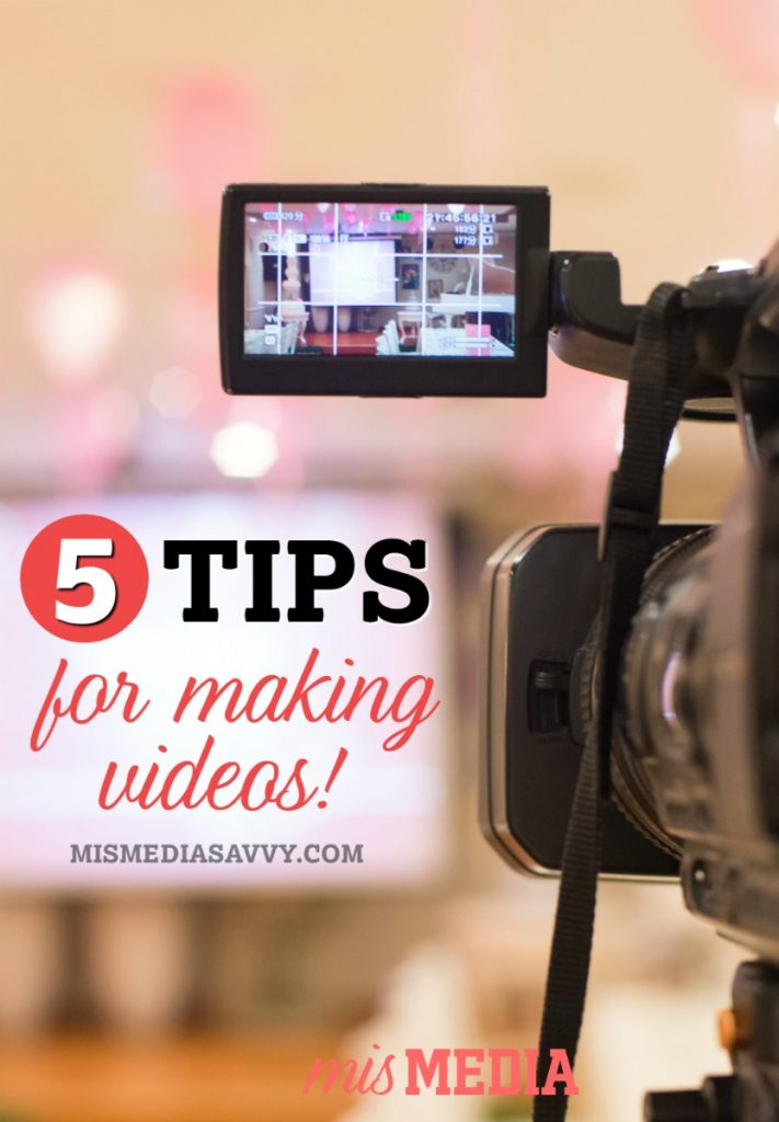 Want to learn how to make videos like a pro? Check out these 5 tips from an Emmy award winning television reporter and producer!