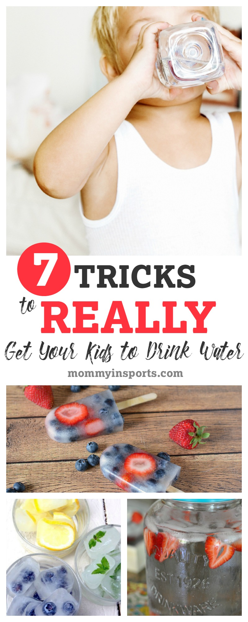 Struggling to get your kids to drink water? We all are! But these 7 tricks really are simple, fun, and work!