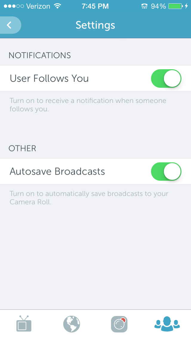 periscope autosave broadcasts