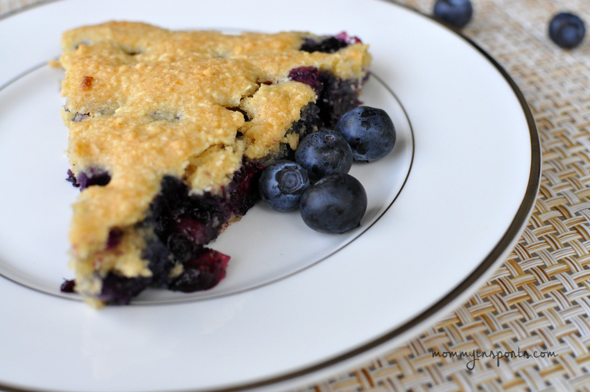 Paleo Blueberry Scones Plate CU blueberries