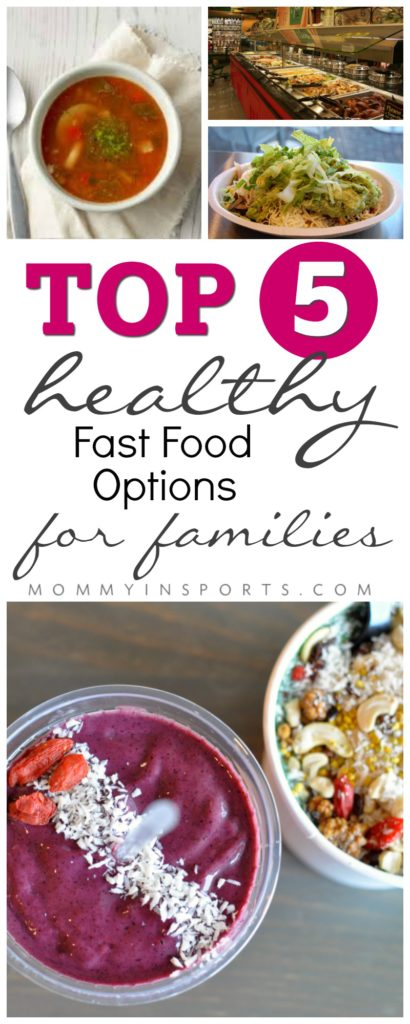 Need a quick meal but don't want all the fried foods that most restaurants offer? Try one of these top 5 healthy fast food options for families! Quick yet nutritious and delicious meals!