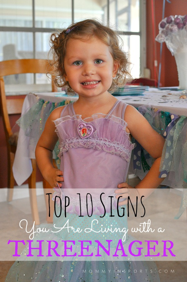 Top Ten Signs You Are Living with a Threenager