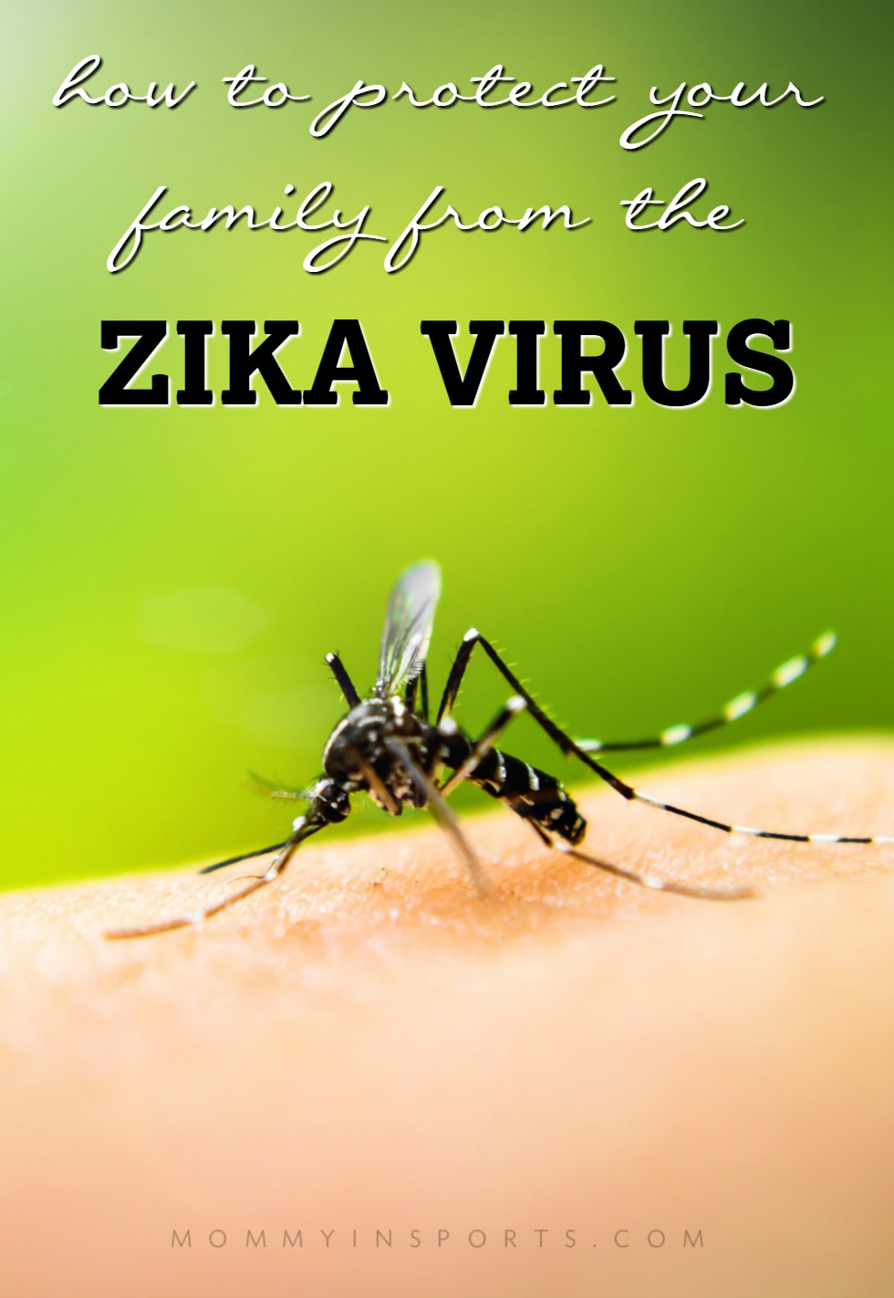 Worried about the Zika virus? Now that it's in the United States, you can take some precautions to protect your family from the Zika Virus!