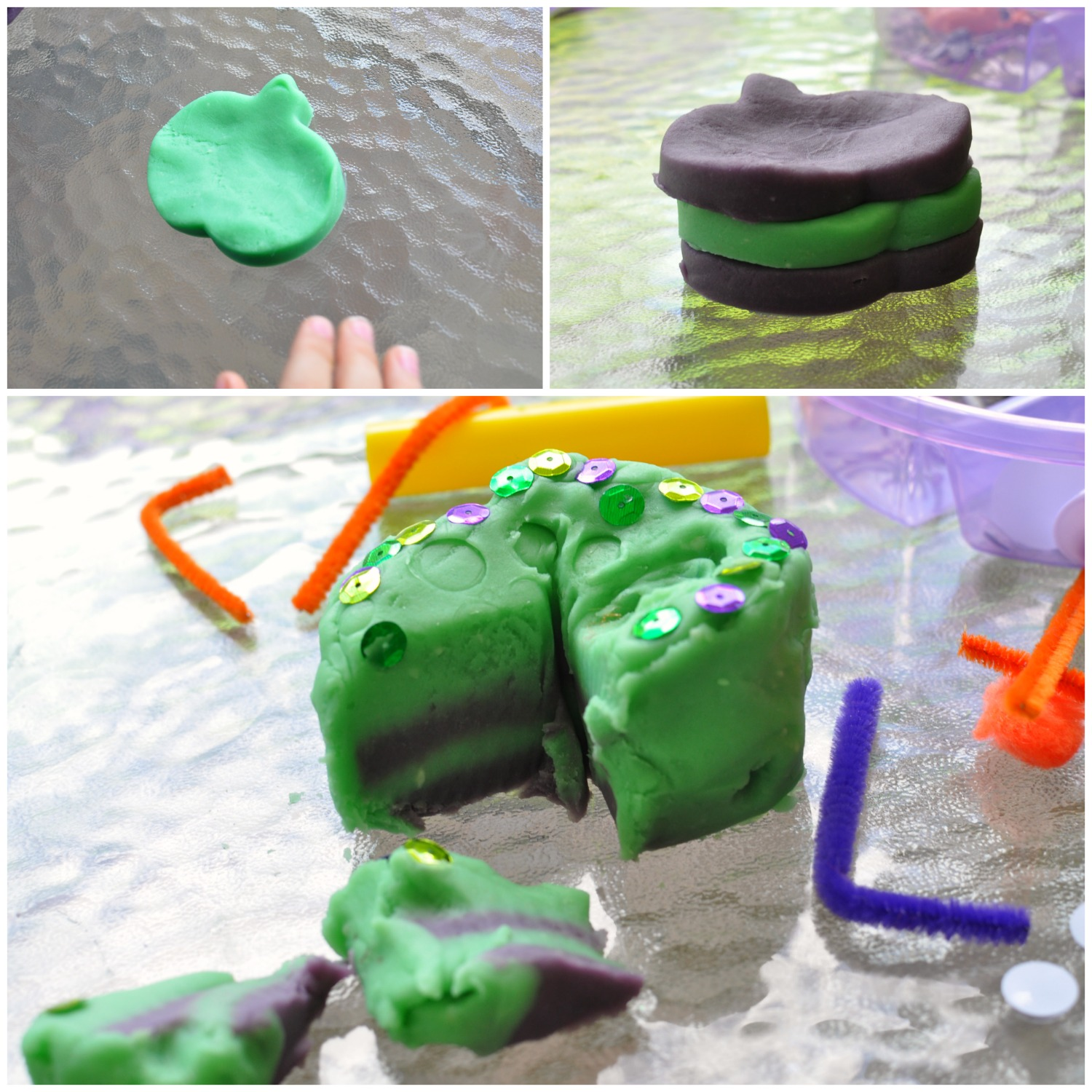 It's that time of your for spooky ghosts and goblins! Make this Monster Halloween Playdough and wow your kids with a fun and easy art project!