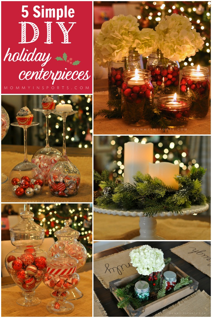 5 Simple DIY holiday centerpieces