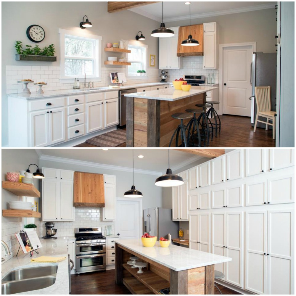 10 fixer upper modern farmhouse white kitchen ideas for Kitchen pics