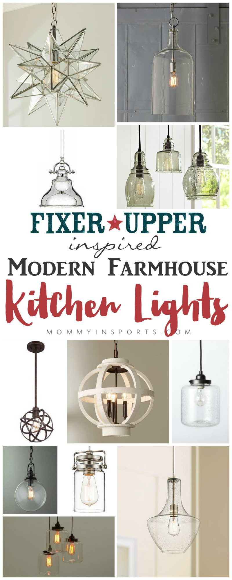 Looking for a Fixer Upper inspired Modern Farmhouse kitchen light? Check out this list of  sc 1 st  Kristen Hewitt & Fixer Upper Inspired Modern Farmhouse Kitchen Lights - Kristen Hewitt