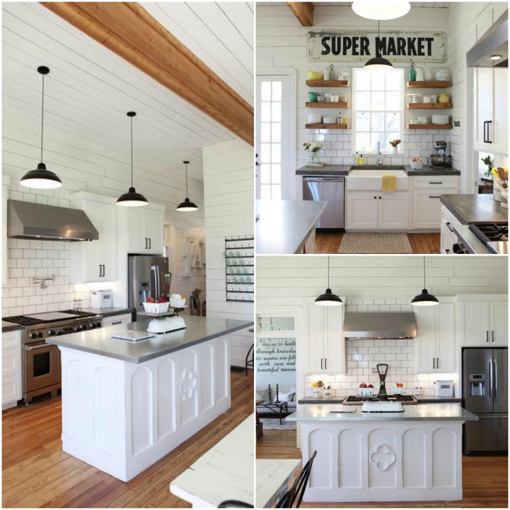 10 Fixer Upper Modern Farmhouse White Kitchen Ideas - Kristen Hewitt