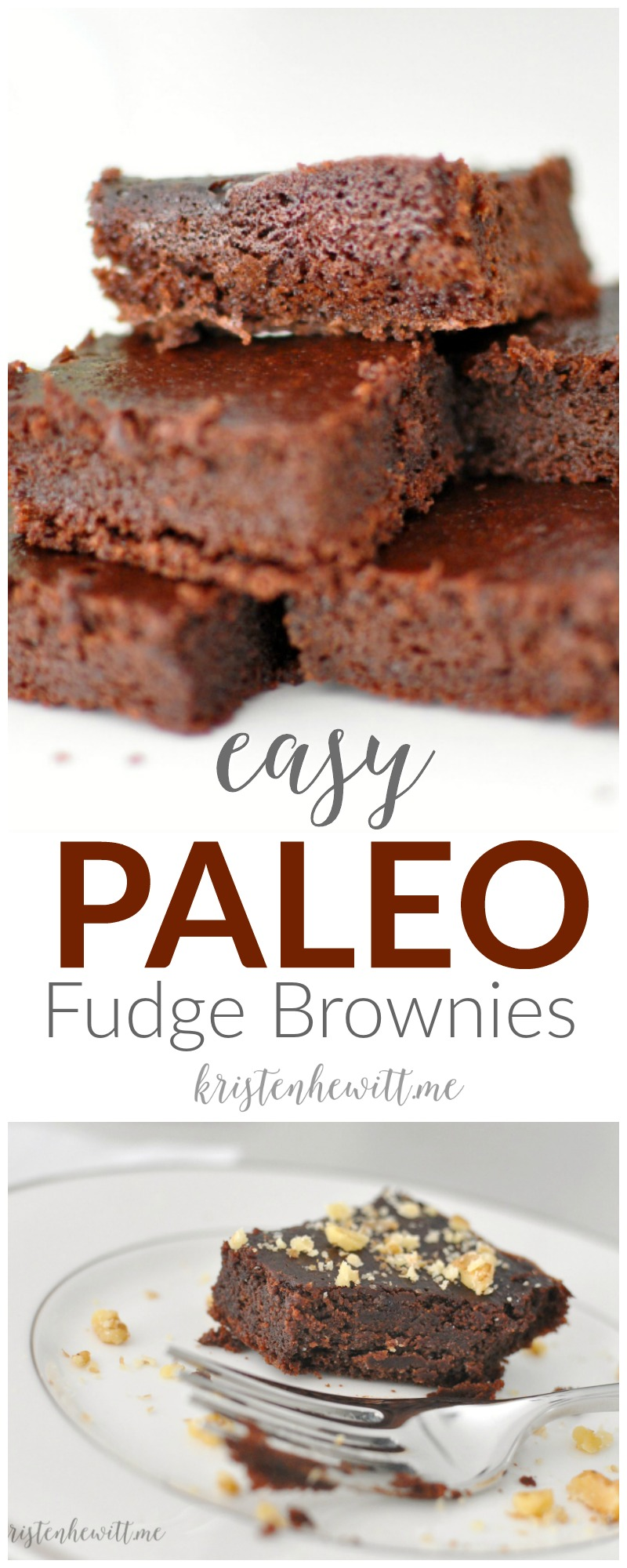 Finding sweet treats is hard when you're on the paleo diet. But don't despair, these easy paleo fudge brownies are easy, satisfying, and delicious!