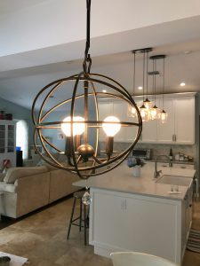 ModernFarmhouseKitchenRevealKitchenNookLightjpg Kristen Hewitt - Kitchen nook light fixtures