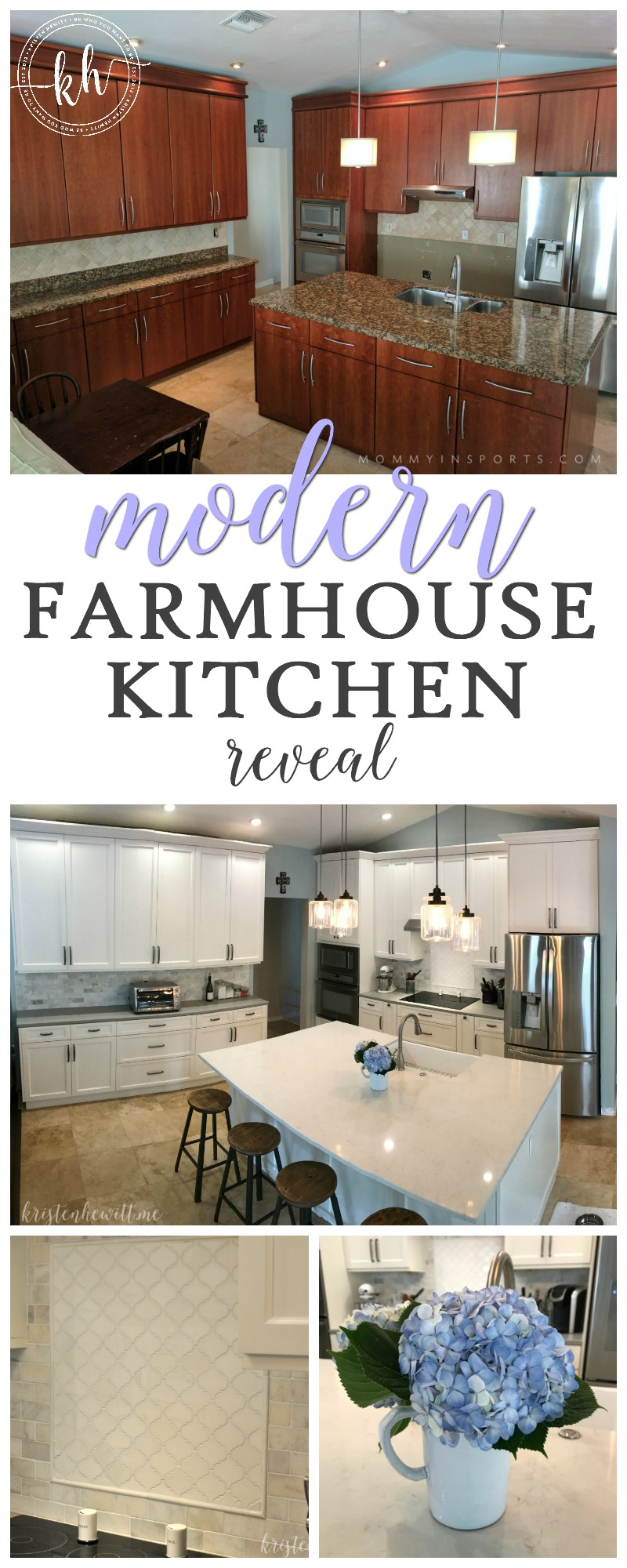 Are you looking to remodel your home and add a modern farmhouse kitchen? Check out what we did and get some design inspiration!