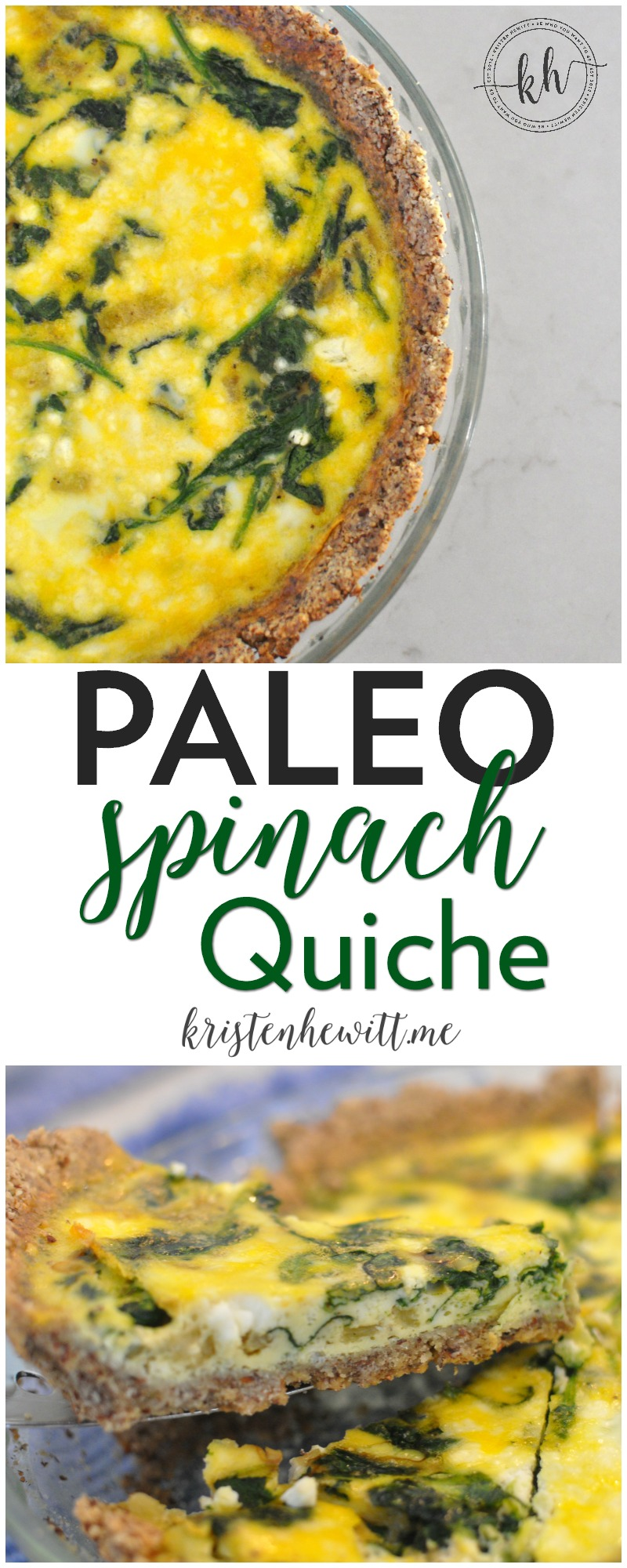 Looking for a delicious paleo breakfast recipe? Then try this paleo spinach quiche! It's perfect for a brunch and really easy to make.