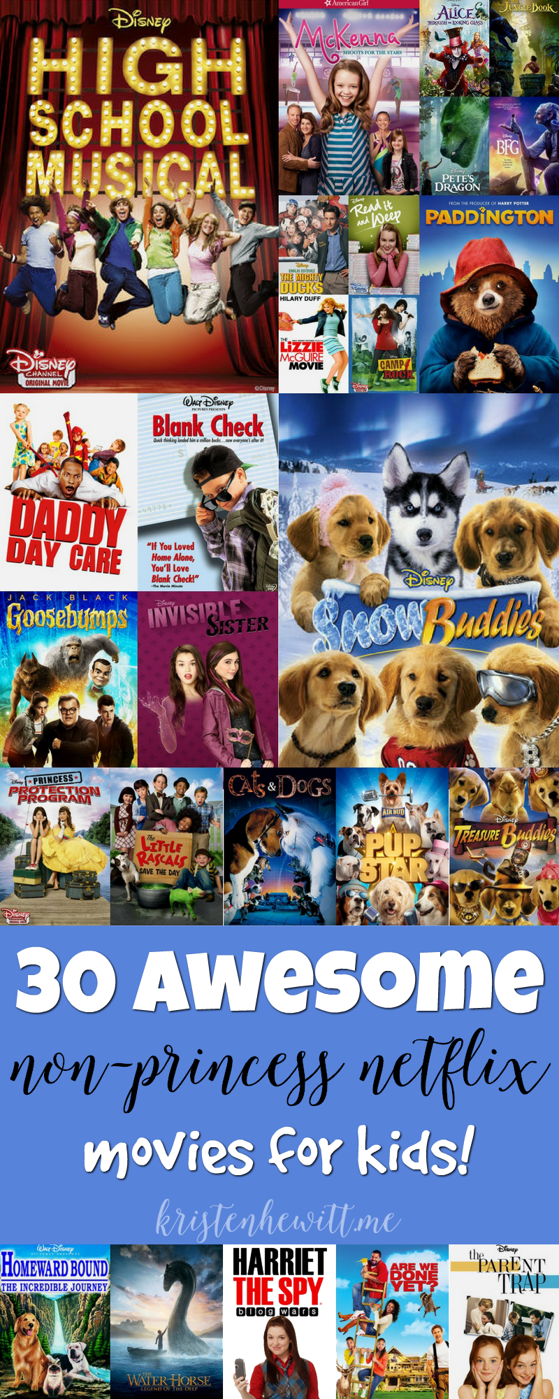 Looking for a non-princess movie for your kids on Netflix? Then check out this amazing list of 30 awesome non-princess netflix movies for kids. You won't be disappointed!