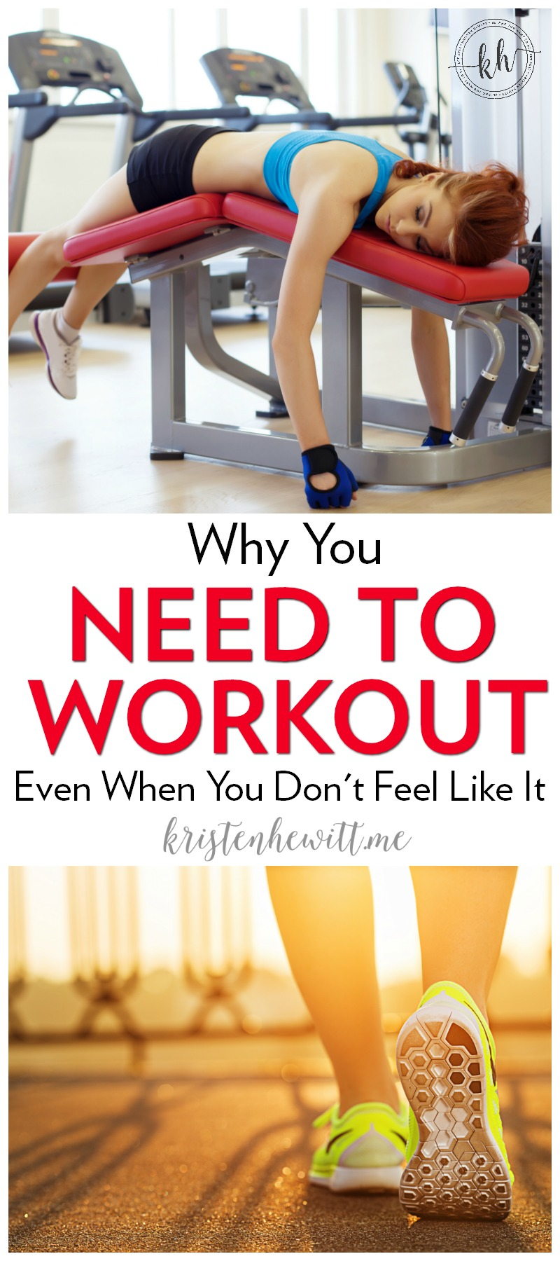 Do you need to work out but have a hard time getting motivated? Here's why you need to work out even when you don't feel like it. Be encouraged!
