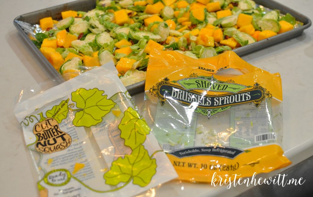 Looking for a new side or meal that is filling, simple and DELISH? Seriously, this is the easiest and best butternut squash and brussels sprouts side ever!